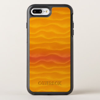 Abstract Waves of Yellow and Orange OtterBox Symmetry iPhone 8 Plus/7 Plus Case