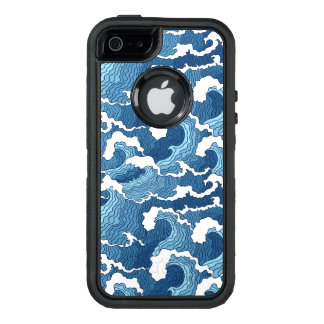 Abstract Waves OtterBox Defender iPhone Case