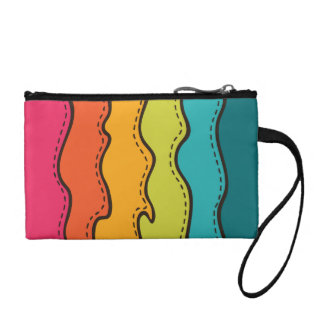 Abstract Waves Pattern Coin Purse