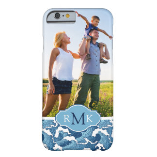Abstract Waves | Photo & Monogram Barely There iPhone 6 Case