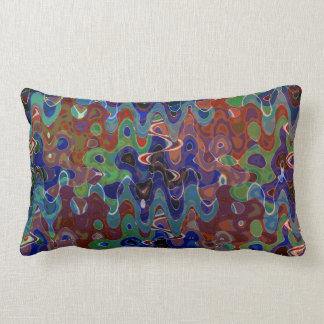 Abstract Waves Template add TEXT IMAGE Greetings Throw Cushion