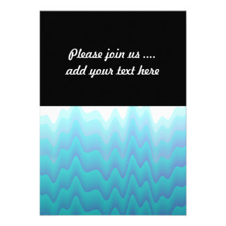 Abstract Waves Turquoise Blue Announcements