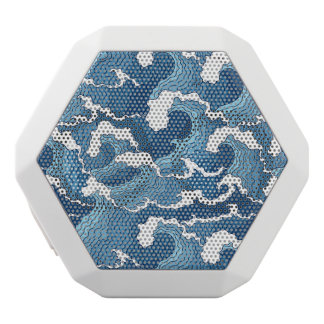 Abstract Waves White Bluetooth Speaker