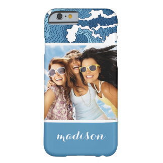 Abstract Waves | Your Photo & Name Barely There iPhone 6 Case