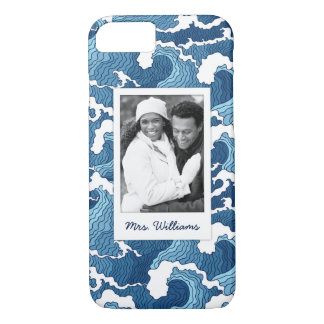 Abstract Waves | Your Photo & Name iPhone 8/7 Case