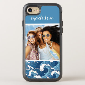 Abstract Waves| Your Photo & Name OtterBox Symmetry iPhone 8/7 Case