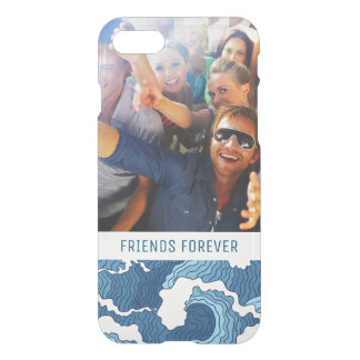Abstract Waves | Your Photo & Text iPhone 8/7 Case
