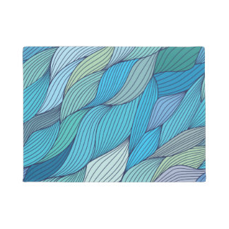 Abstract wavy pattern doormat
