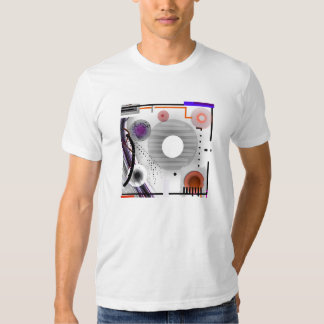 Abstract Wearable Art Grey Squares T Shirt