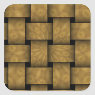 Abstract weave pattern square sticker
