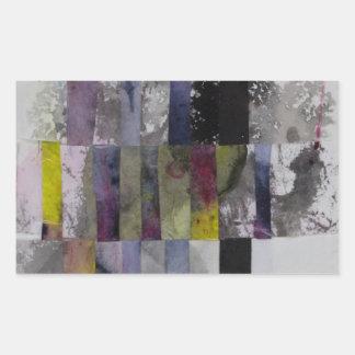 Abstract Weave Rectangular Sticker