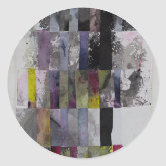 Abstract Weave Round Sticker