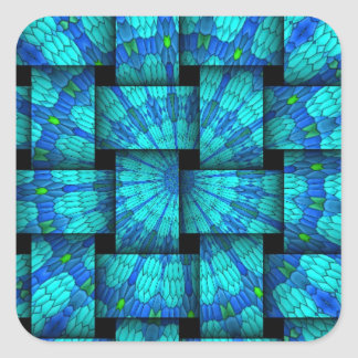 Abstract weaves pattern square stickers