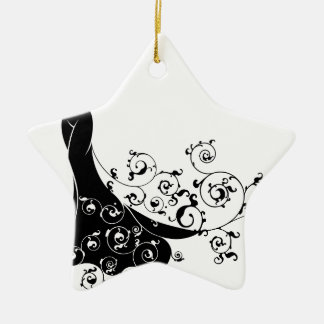 Abstract Wedding Bride Silhouette Christmas Ornament
