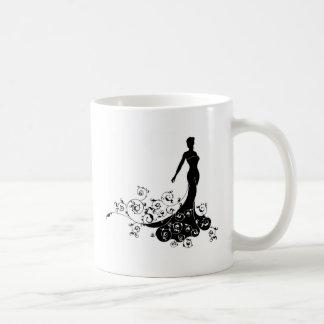 Abstract Wedding Bride Silhouette Coffee Mug