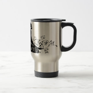 Abstract Wedding Bride Silhouette Travel Mug
