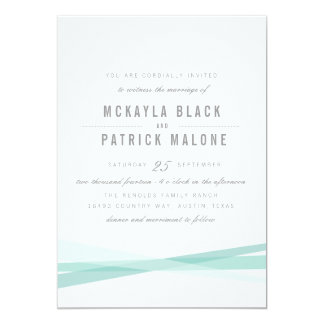 Abstract Wedding Invite - Blue