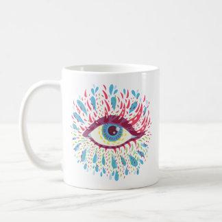 Abstract Weird Blue Psychedelic Eye Coffee Mug