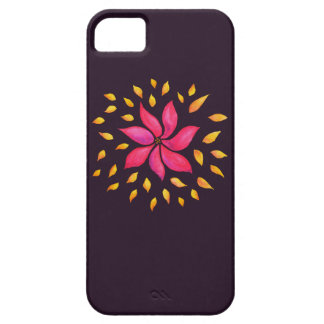 Abstract Whimsical Watercolor Pink Flower Barely There iPhone 5 Case