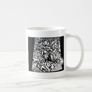 Abstract White/Black Design #1 Coffee Mug