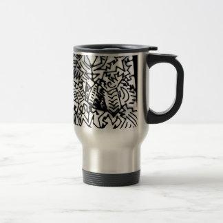 Abstract White Black Design 1 Coffee Mug