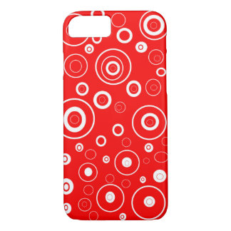 Abstract  White Circles iPhone 8/7 Case