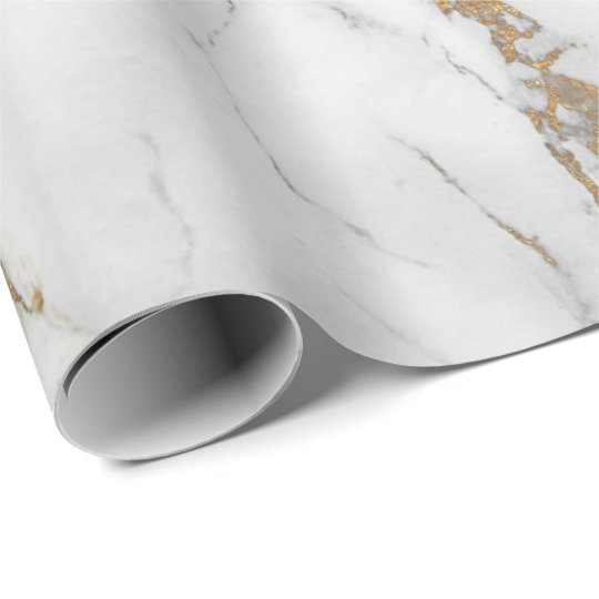 Abstract White Gold Gray Carrara Marble Stone Wrapping