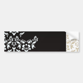 Abstract white light brown floral valentine gift bumper stickers