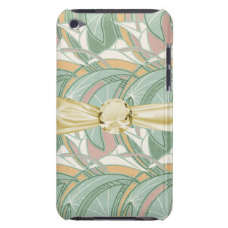 abstract white lily art nouveau pattern art iPod touch cover