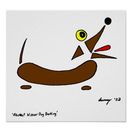 Abstract Wiener Dog Poster