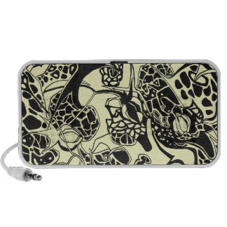abstract wild animals and flowers Doodle iPod Speaker
