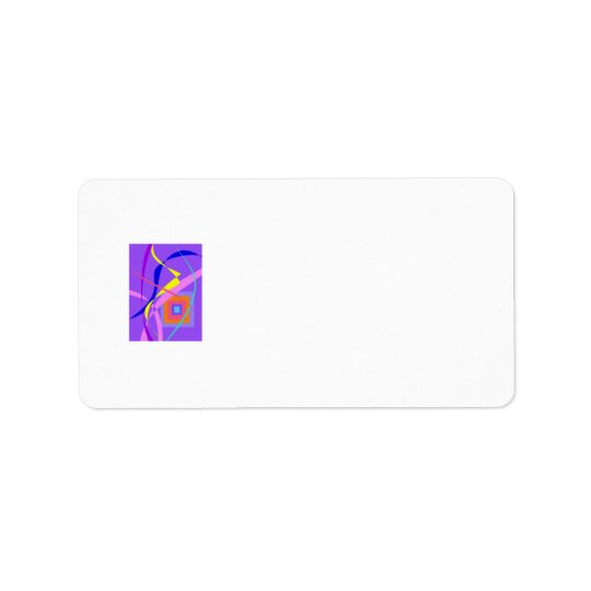 Abstract Wind and a Window Address Label