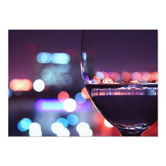 Abstract Wine Glass in a romantic setting Card