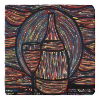 Abstract Wine Painting Trivets