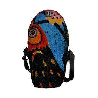 abstract with the bird's eye messenger bag
