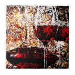 Abstract with Wine Ceramic Tile