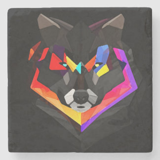 Abstract wolf coaster stone beverage coaster
