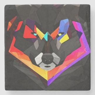 Abstract wolf coaster stone coaster