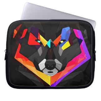 Abstract wolf funda_10 laptop computer sleeve