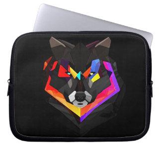 Abstract wolf funda_10 laptop sleeve