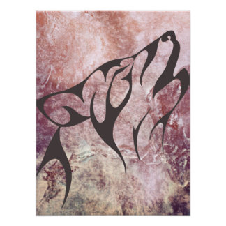 Abstract Wolf Print Poster
