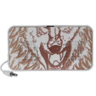 Abstract Wolf Sketch 2 Notebook Speaker