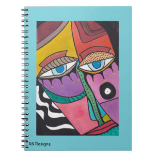 Abstract Woman Notebook