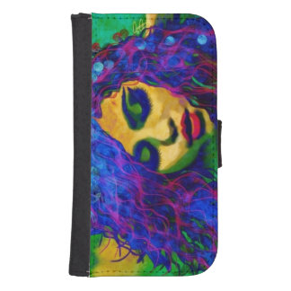 Abstract Woman Samsung Galaxy4s Wallet Case
