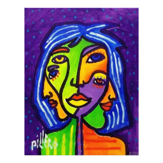 Abstract Women J 3 by Piliero 21.5 Cm X 28 Cm Flyer