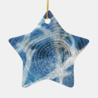 Abstract wood background design ceramic star decoration