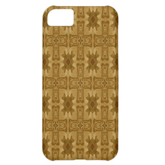 Abstract wood cross pattern iPhone 5C case