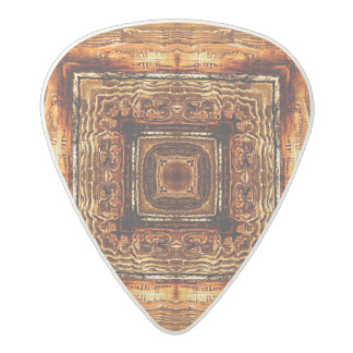 Abstract Wood Grain Texture Acetal Guitar Pick