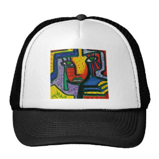 Abstract Wood painting Cap