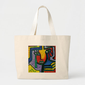 Abstract Wood painting Large Tote Bag